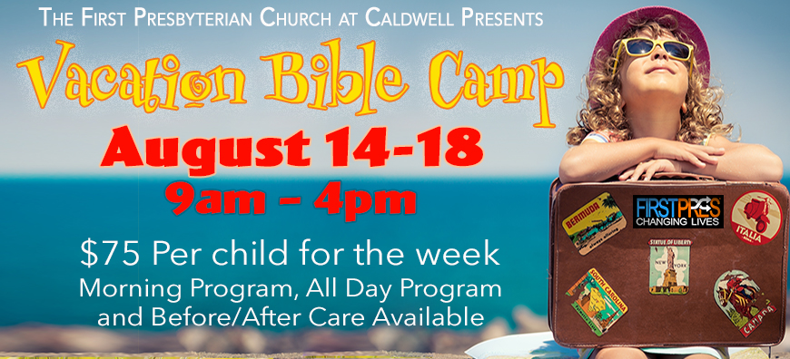 Vacation Bible Camp  First Presbyterian Church At Caldwell. Garage Sale Pics. Panel Schedule Template. Business Flyer Design. Free Sales Agreement Template. Excel Hourly Schedule Template. New Years Eve Party Flyer. Cd Cover Template Free. Carnival Flyer Template