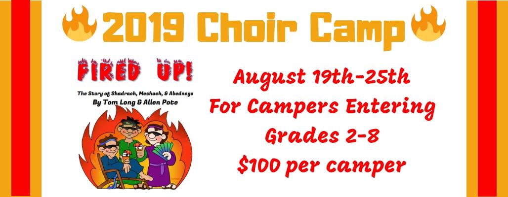 Choir Camp 2019 – First Presbyterian Church at Caldwell