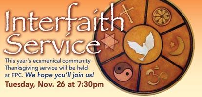 Interfaith Service 11/26